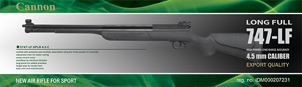 Cannon 747 Long Full | Cannon - New Air Rifle For Sport